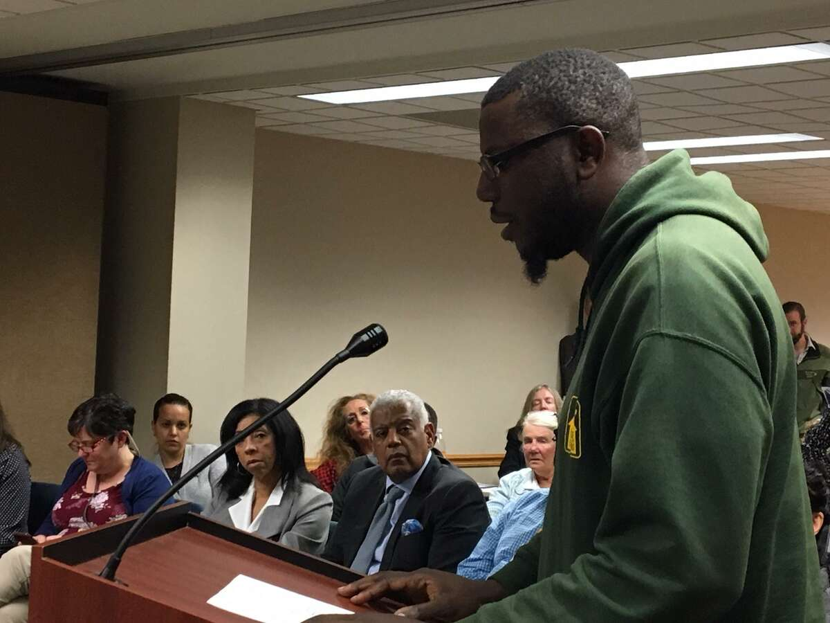 Jayuan Carter opposes proposed changes for Dixwell zoning.