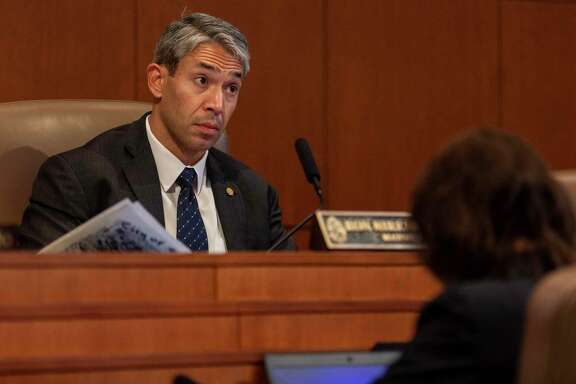 San Antonio mayor Ron Nirenberg, listens Thursday, Sept. 19, 2019 at city council chambers during a review of proposed changes to the city's paid sick leave ordinance.