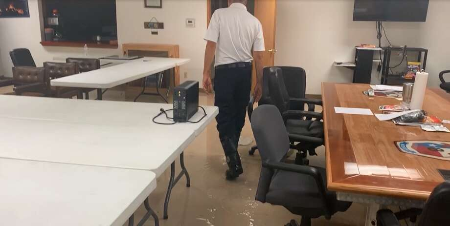 Caney Creek firefighters returned to their station Thursday, Sept. 19, after conducting water rescues to find a foot of water covering the floor, according to the Montgomery County Police Reporter. Photo: Montgomery County Police Reporter