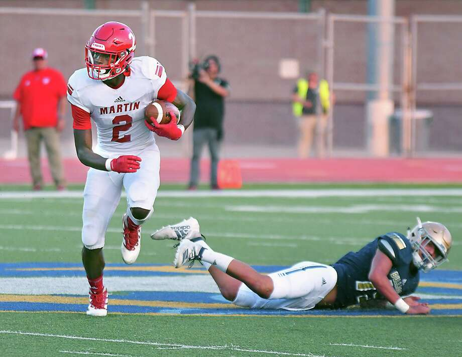 Martin wide receiver Dean Blondmonville was a unanimous first-team All-District 14-5A I selection. Photo: Cuate Santos /Laredo Morning Times File / Laredo Morning Times