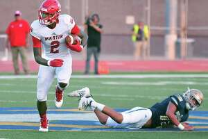 Martin wide receiver Dean Blondmonville was a unanimous first-team All-District 14-5A I selection.