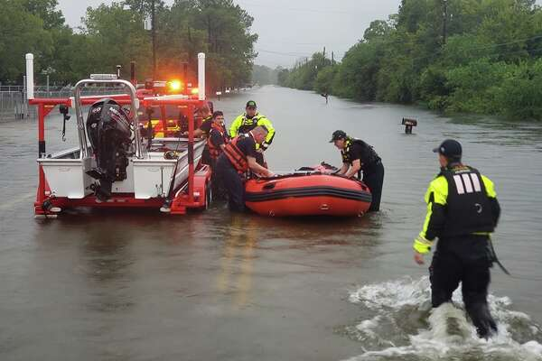 "Crosby Volunteer Fire Department ""We are actively working High Water Evacuations and Rescues at this time with our partners from Harris County Pct. 3 Constables, Harris County Sheriff Office and Harris County Precinct 2 Maintenance. We are working diligently as possible to respond all calls for service."""