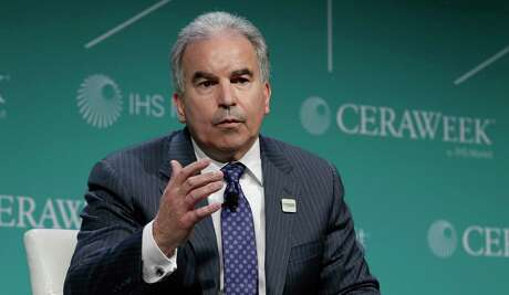 "Jack Fusco, President and Chief Executive Officer of Cheniere Energy comments during a panel discussion titled ""Fuels of the Future: The New Rivalry"" during the first day of CERAWeek by IHS Markit at the Hilton Americas-Houston hotel Monday, Mar. 11, 2019 in Houston, TX."