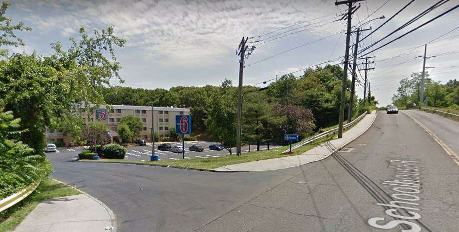 A 43-year-old Norwalk man was arrested on drug charges on Wednesday, Sept. 18, 2019 in the area of Motel 6 on Schoolhouse Road. Barry Goodwin was charged with possession of narcotics, drug paraphernalia and a stolen license plate. Photo: Google Street View