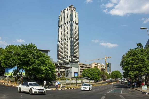 The Leonardo, which will be Africa's tallest building, stands in the Sandton district of Johannesburg, South Africa.