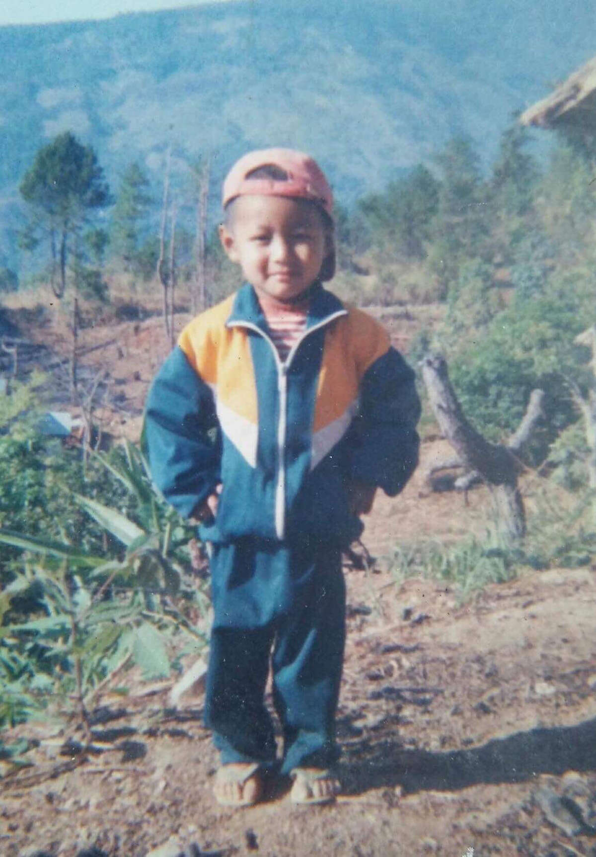 Francis HungMang in Burma as a child.