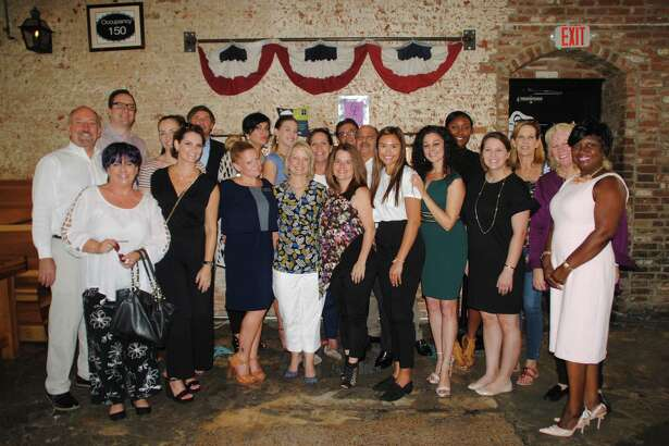 Members of the Greater Houston Builders Association joined GHBA board members, GHBA staff, HomeAid board and staff and other guests to vote for HomeAid and their mission at a fundraiser hosted by OKRA Charity Saloon in downtown Houston.