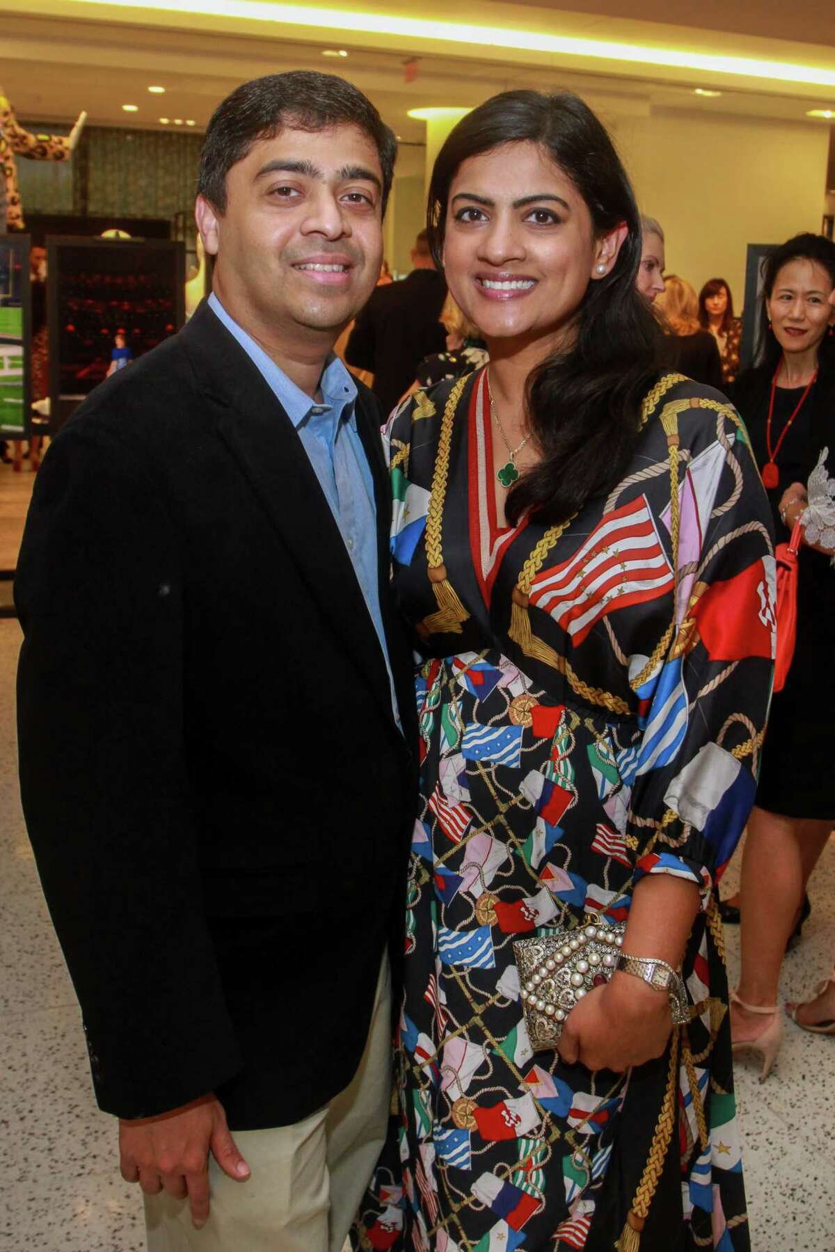Vivek and Ishwaria Subbiah at the Women of Distinction announcement at Tootsies on September 18, 2019.