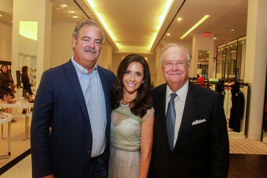 Cal and Hannah McNair, from left, with her father, Charlie Hartland at the Women of Distinction announcement at Tootsies on September 18, 2019. Photo: Gary Fountain, Contributor / Copyright 2019 Gary Fountain