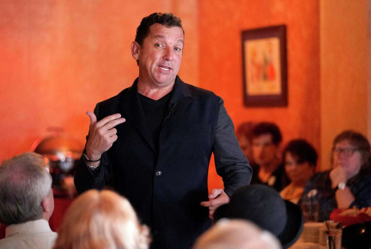 Mayoral challenger Tony Buzbee speaks at a meet-and-greet event held at Molina's Cantina, 7901 Westheimer Rd., Sunday, Sept. 15, 2019, in Houston.