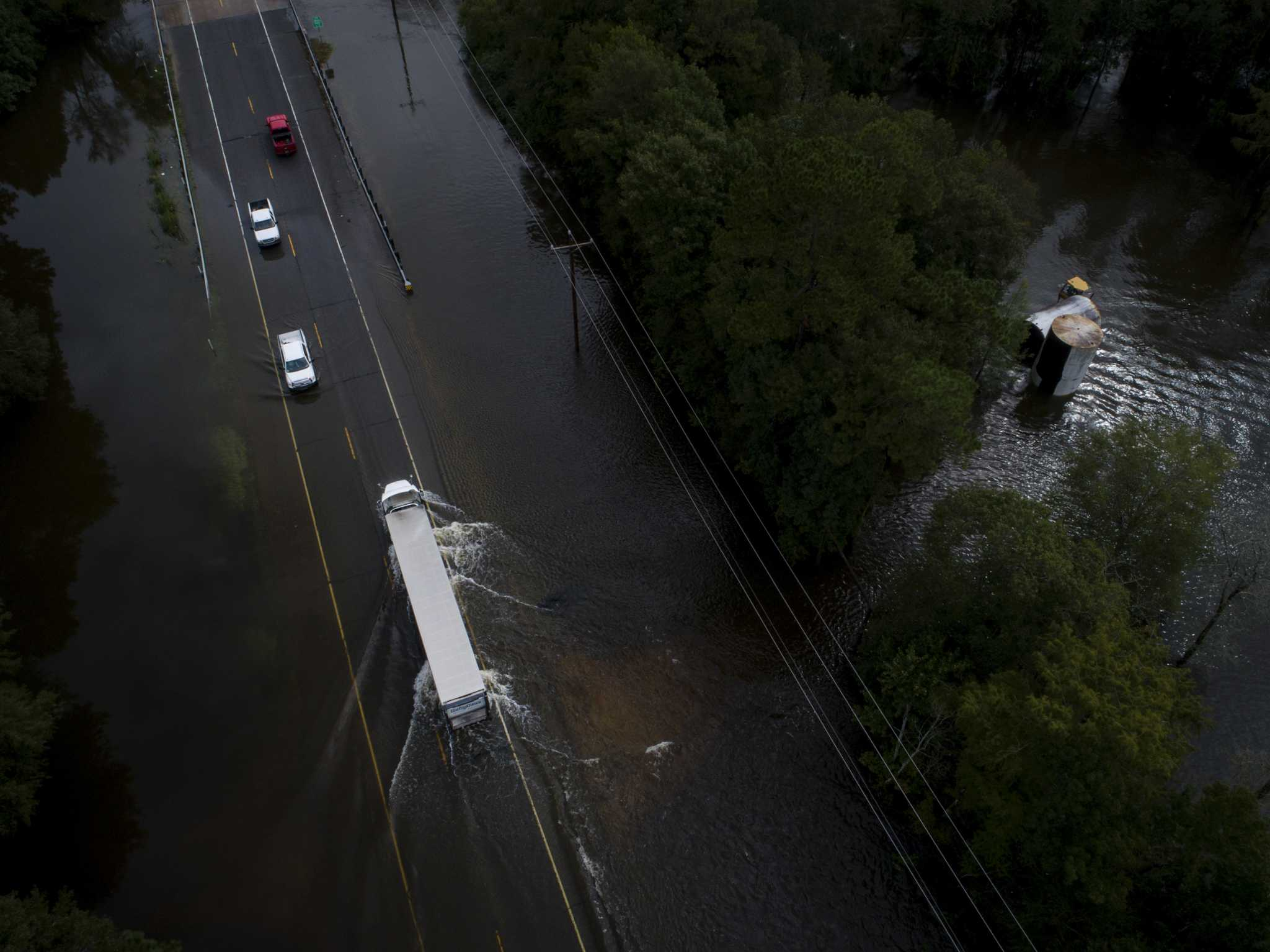 Aerial photos show Imelda flooding in southeast Texas