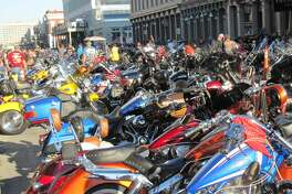 Thousands of motorcycle enthusiasts come to Galveston for the non-stop music, shopping, food, and multiple bike and car shows.