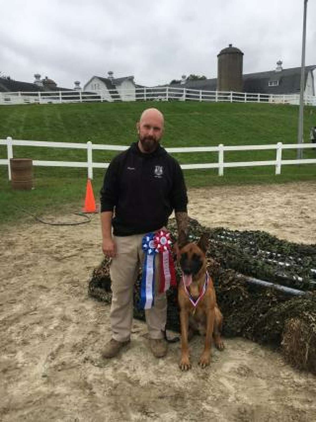 Stamford police officer Logan Pavia and his K-9 Pyro responded to a burglary on Thursday, Sept. 20 on Davenport Drive, Stamford, Conn.