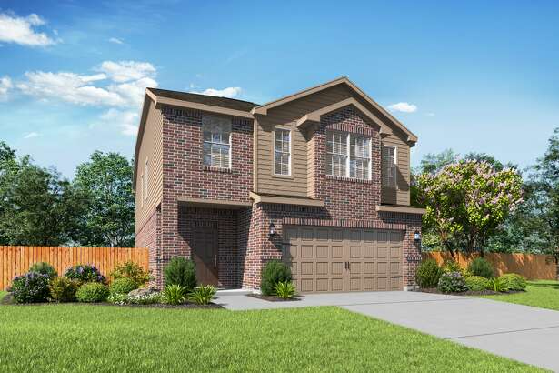 LGI Homes' Osage design at El Tesoro is a 4-bedroom, 2.5-bath home. It has an open floor plan with a spacious family room downstairs and flex room upstairs.