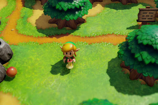 "A scene from ""The Legend of Zelda: Link's Awakening."""