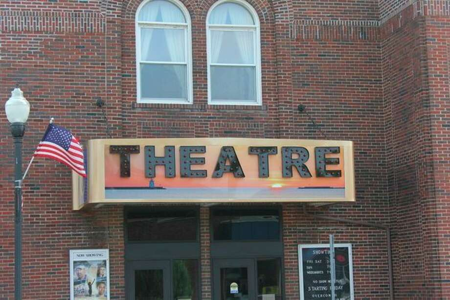The new marquee of the Harbor Beach Community Theatre. Total costs are estimated to come at below $12,000. (Robert Creenan/Huron Daily Tribune)