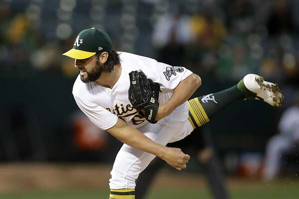 For A's starter Tanner Roark, it's not quite Catch-22, but it's getting close