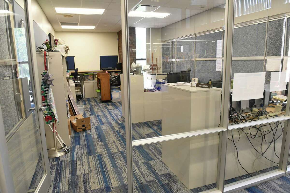 This office is one of the completed phase one renovations at the William K. Sanford Library on Friday, Sept. 20, 2019 in Colonie, N.Y. (Lori Van Buren/Times Union)