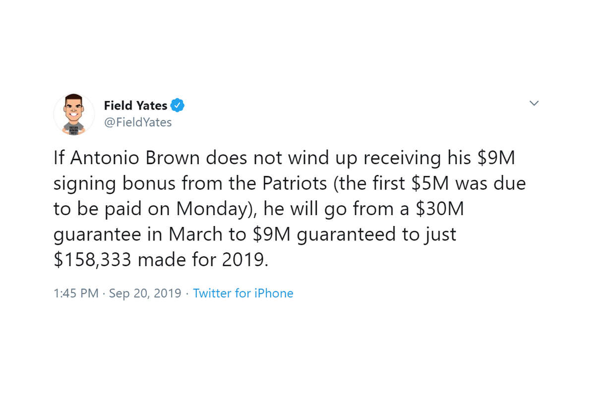 The NFL world reacts to Antonio Brown's release from the New England Patriots.
