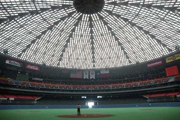 Exterior and interior views inside the recently renovated Astrodome, Sept. 20, 1989.
