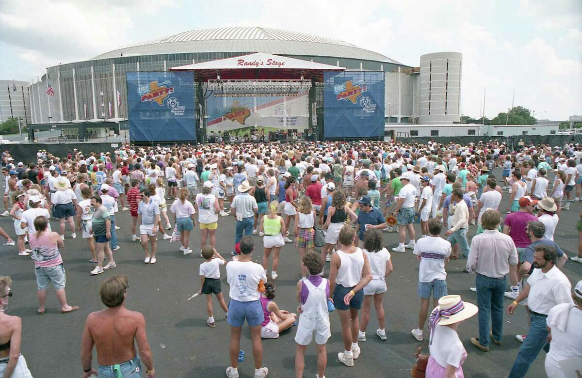 """""""Biggest Party in History"""" festivities outside the Astrodome, Sept. 2, 1989."""