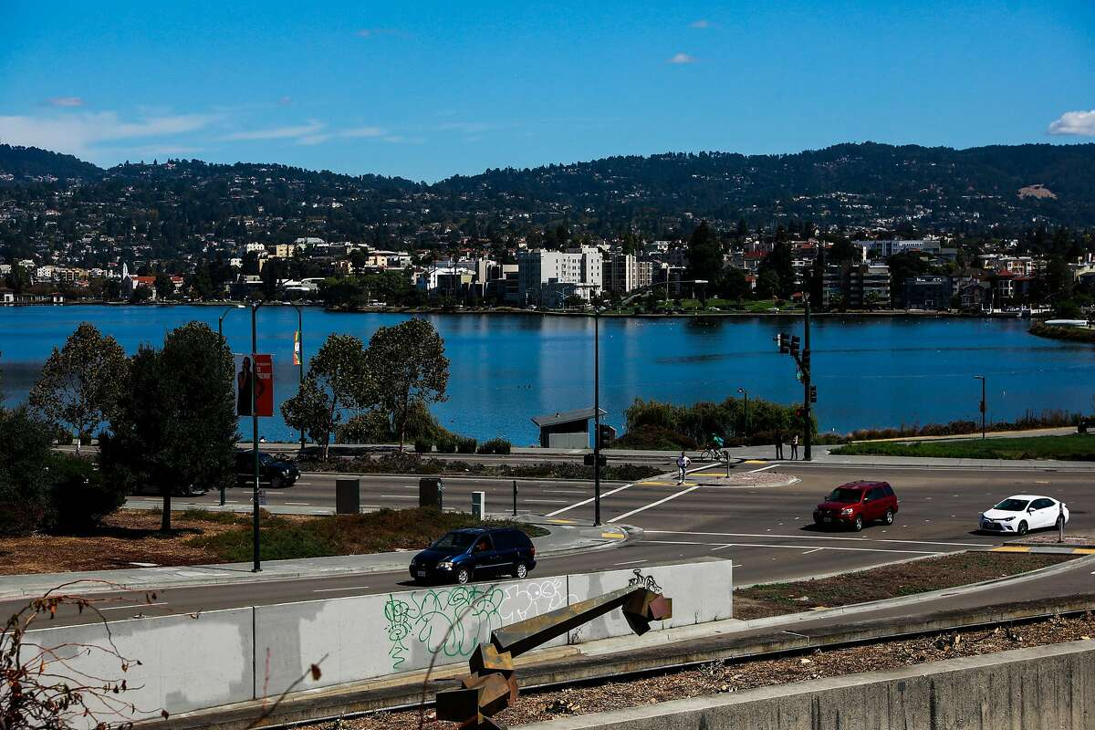 A view of Lake Merritt from the Oakland Museum in Oakland, California, on Thursday, Sept. 19, 2019.
