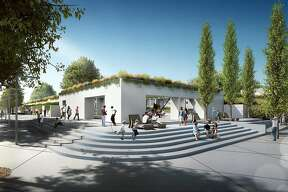The planned redo of the Oakland Museum of California includes a new opening to Lake Merritt on 12th Street, at the southeast corner of the 50-year-old complex.