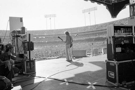 April 25, 1976: Peter Frampton, performing for an Oakland Coliseum crowd, was the headliner during the first and second Day on the Green in 1976.