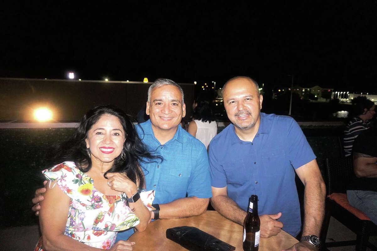 Marisa and Ignacio Garza and JJ Vasquez at Rooftop Lounge