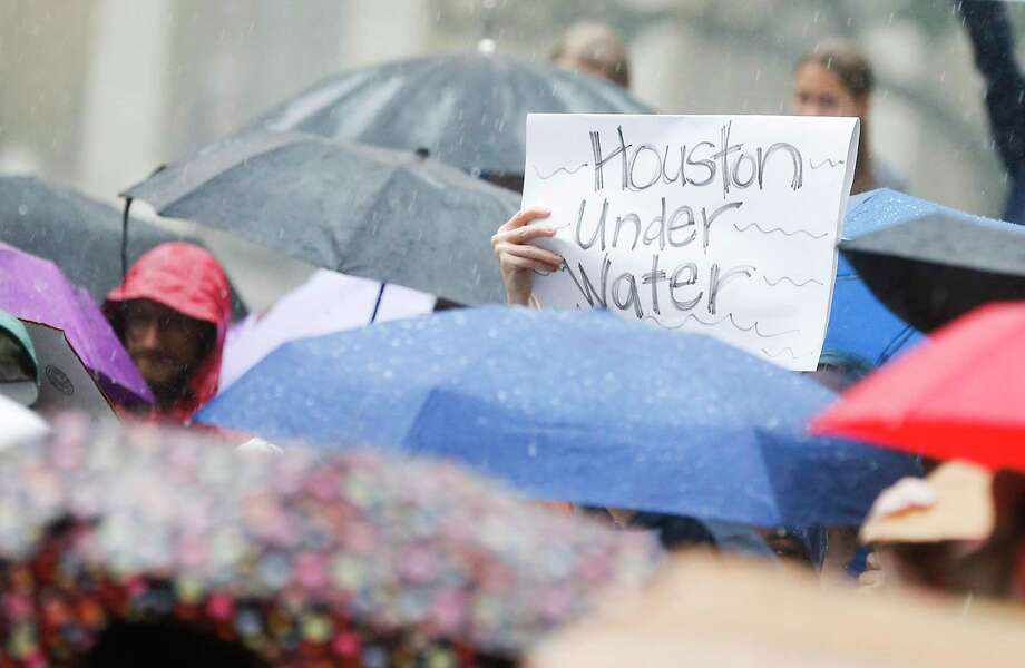 Houston is participating in Global Climathon Day on Oct. 25, where local brainstorming sessions invite people to develop solutions for safety and quality-of-life issues, such as air pollution, extreme weather and waste management. Pictured is the Houston Climate Strike at City Hall on Friday, Sept. 20, 2019 in Houston. Photo: Elizabeth Conley, Houston Chronicle / Staff Photographer / © 2018 Houston Chronicle