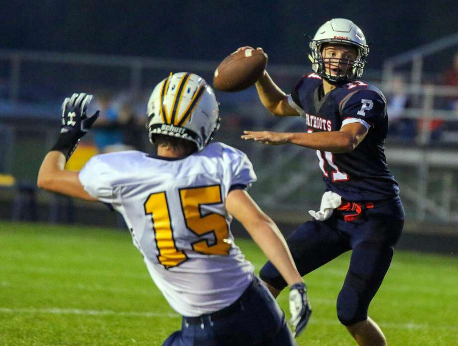 The USA Patriots opened their home schedule Friday night with a a game against the Bad Axe Hatchets. Photo: Eric Young/Huron Daily Tribune
