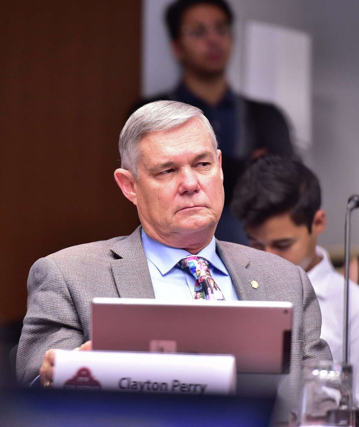 City Council member Clayton Perry was the one 'no' vote on the city's climate action plan adopted Thursday, Oct. 17, 2019.
