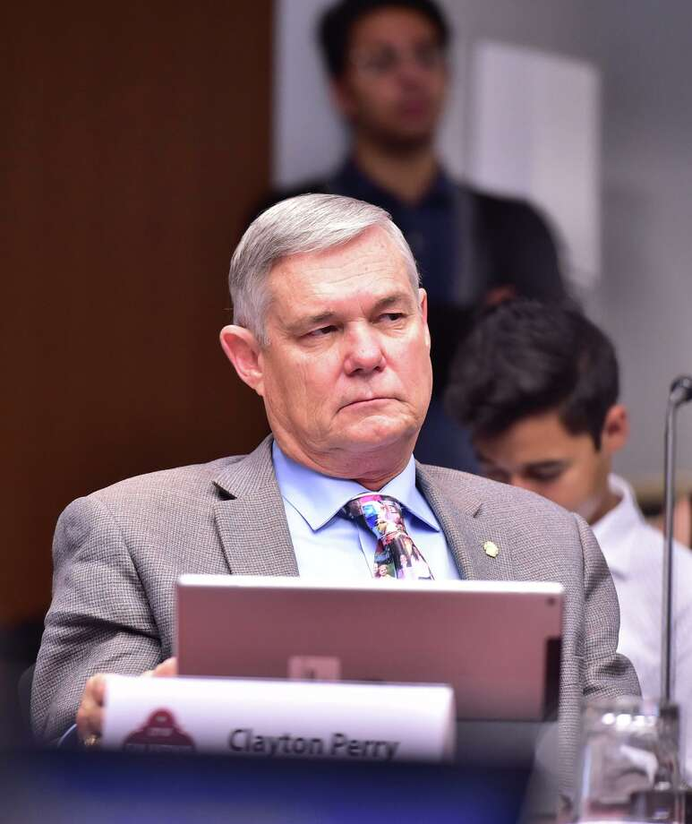 City Council member Clayton Perry was the one 'no' vote on the city's climate action plan adopted Thursday, Oct. 17, 2019. Photo: Robin Jerstad /Contributor / ROBERT JERSTAD