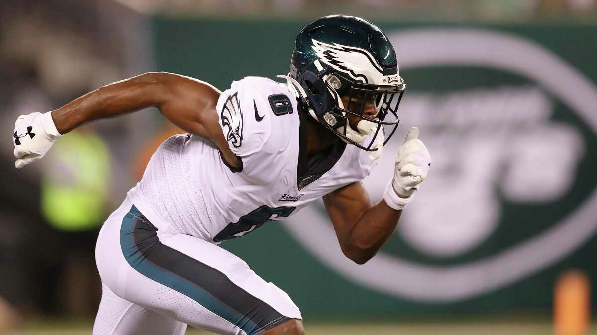 Philadelphia Eagles wide receiver Greg Ward (6) in action during the first half of a preseason NFL football game against the New York Jets Thursday, Aug. 29, 2019, in East Rutherford, N.J. The New York Jets won 6-0. (AP Photo/Steve Luciano)