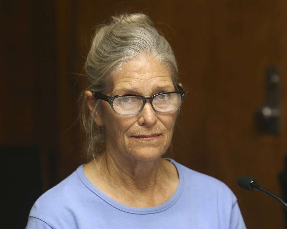 FILE - In this Sept. 6, 2017 photo, Charles Manson follower Leslie Van Houten attends her parole hearing at the California Institution for Women in Corona, Calif. A parole board panel on Thursday, July 23, 2020, recommended that Van Houten be paroled after serving nearly five decades in prison. Photo: Stan Lim, Associated Press