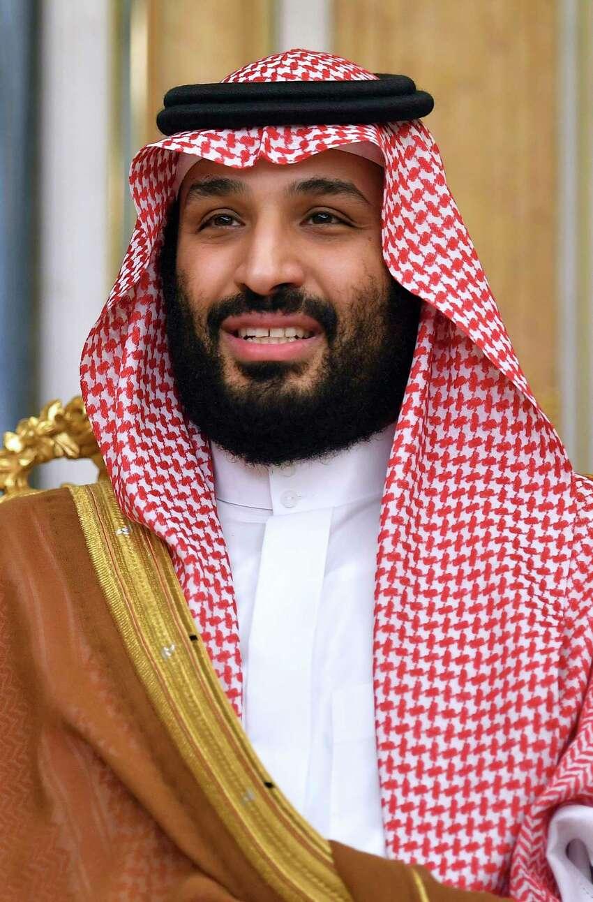 Saudi Arabia's Crown Prince Mohammed bin Salman attends a meeting with the U.S. Secretary of state Mike Pompeo in Jeddah, Saudi Arabia, Thursday, Sept. 18, 2019. (Mandel Ngan/Pool Photo via AP)