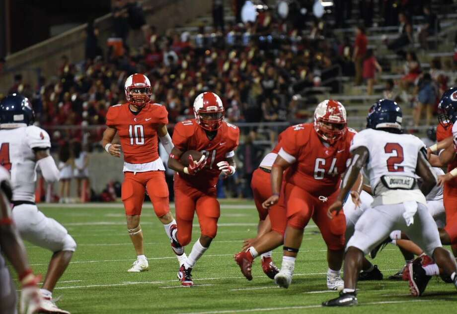 Cy Lakes beat Cy Springs 27-7 in week four of a District 14-6A matchup, Sept. 20, at Cy-Fair FCU Stadium. Photo: CFISD