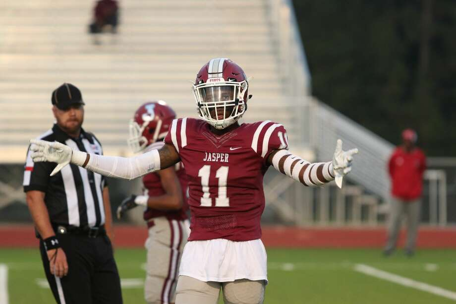 Jasper's Terrien Collins had three interceptions in the losing effort against Diboll on Friday night. Photo: Jason Dunn/ Special To The Enterprise