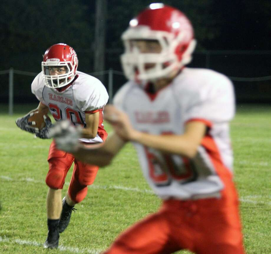 North Huron rolls in 61-0 week four victory against Caseville. Photo: Eric Rutter / Huron Daily Tribune