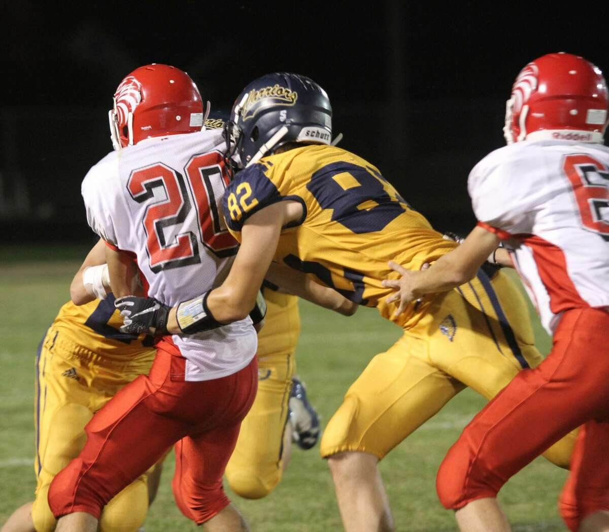 North Huron rolls in 61-0 week four victory against Caseville.