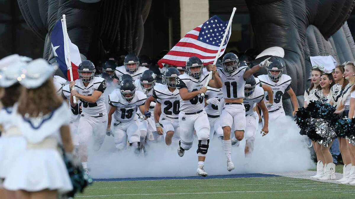 Boerne Champion (12-1) 45 vs. Sharyland Pioneer (11-2) 38Champion leads series 1-0