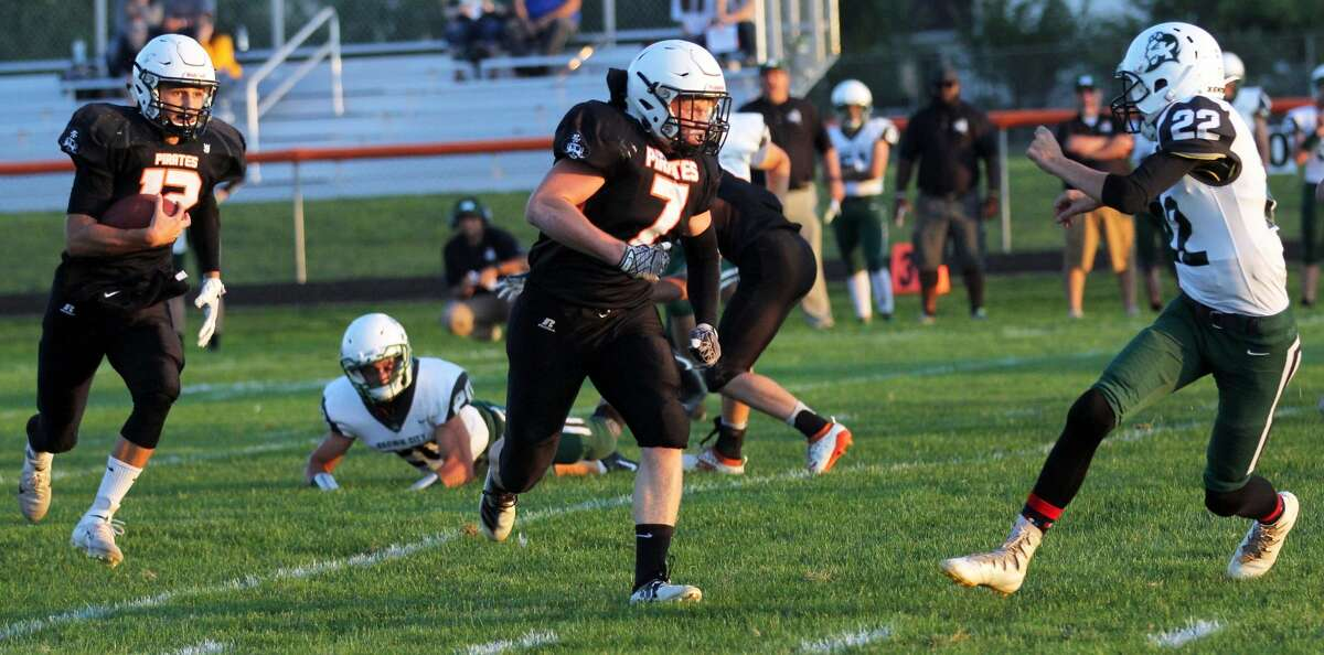 The Harbor Beach Pirates beat the Brown City Green Devils 47-0 on Friday night to improve to 4-0 on the season.