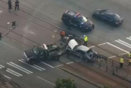 Light rail train hits stolen car in South Seattle