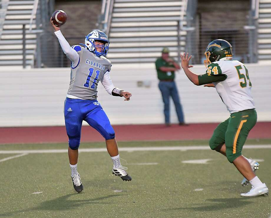 Cigarroa quarterback Hector Solis and the Toros fell to Crystal City 20-0 on Friday to close out non-district play. Photo: Cuate Santos /Laredo Morning Times / Laredo Morning Times