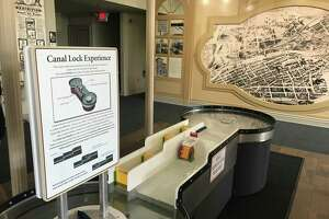 A new Erie Canal exhibit in the revamped Cohoes Visitors Center in the Cohoes Music Hall building at the north end of Remsen Street in Cohoes, New York.