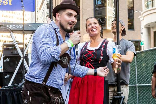Keeping in tradition with its German roots, Schroeder's downtown again kicked off its 126th celebration for the annual Bavarian block party bash near its Front Street location on Friday.