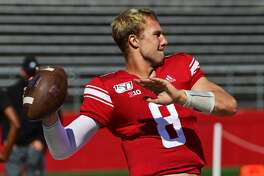 PISCATAWAY, NJ - SEPTEMBER 21: Artur Sitkowski #8 of the Rutgers Scarlet Knights looks to pass before the game against the Boston College Eagles at SHI Stadium on September 21, 2019 in Piscataway, New Jersey. (Photo by Corey Perrine/Getty Images)
