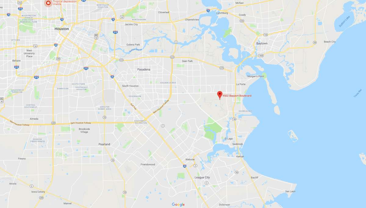A screenshot of a Google Maps image of the 9500 block of Bayport Boulevard in Pasadena, Texas. La Porte officials say a fire broke out at the Celanese Corp. chemical plant in the area.
