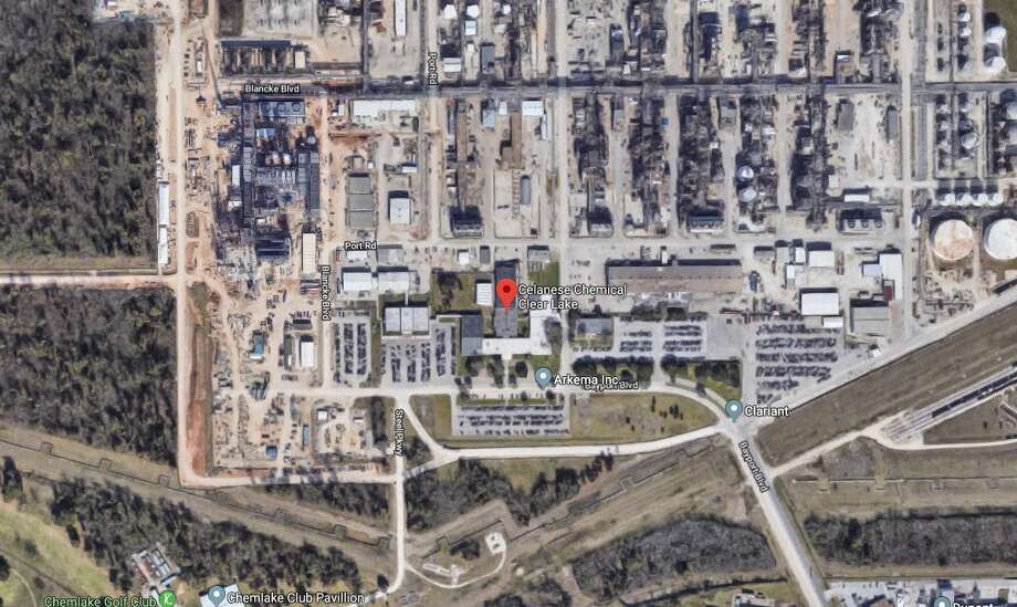 The La Porte Office of Emergency Management said a fire occurred at Celanese Chemical plant on Bayport Road plant. Photo: Google Maps
