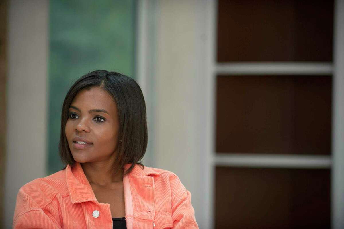 Stamford native Candace Owens poses for a photo in Greenwich, Conn., on Monday, Sept. 10, 2018.